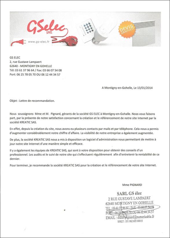 Avis client Kreatic par la société GSelec